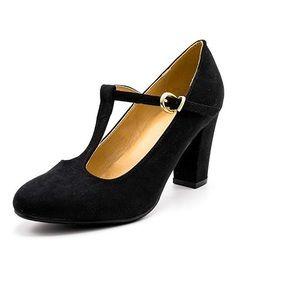 Classic Black Velvet Heels Size US 8